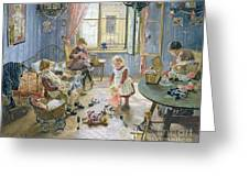 The Nursery Greeting Card by Fritz von Uhde