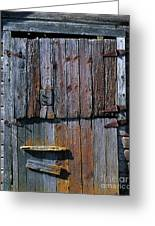 The Old Barn Door Greeting Card by Terril Heilman