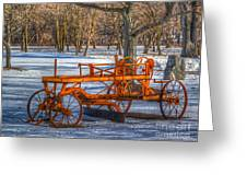 The Old Grader Greeting Card by Robert Pearson