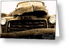 The Old Jalopy . 7d8396 Greeting Card by Wingsdomain Art and Photography