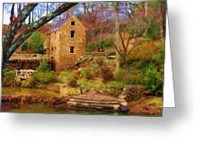 The Old Mill Greeting Card by Renee Skiba
