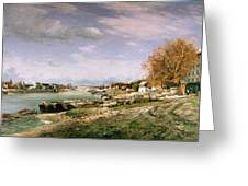 The Old Quay At Bercy Greeting Card by Jean Baptiste Armand Guillaumin