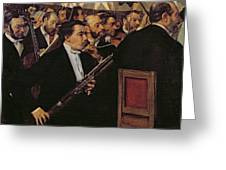 The Opera Orchestra Greeting Card by Edgar Degas