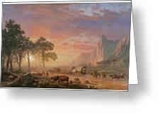 The Oregon Trail Greeting Card by Albert Bierstadt