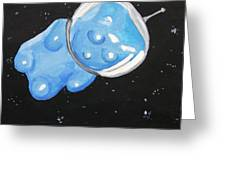 The Original Gummy Bear In Space Greeting Card by Jera Sky