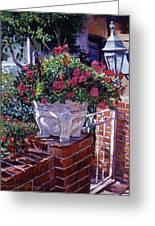 The Ornamental Floral Gate Greeting Card by David Lloyd Glover