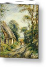 The Outskirts Of Berneval Greeting Card by Pierre Auguste Renoir