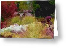The Painted Garden Greeting Card by Tom Prendergast