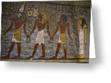 The Painted Walls Inside A Tomb Greeting Card by Taylor S. Kennedy