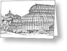 The Palm House In Brooklyn  Greeting Card by Building  Art