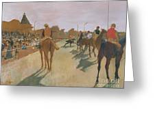 The Parade Greeting Card by Edgar Degas