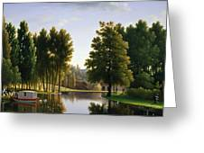 The Park At Mortefontaine Greeting Card by Jean Bidauld