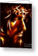 The Passion Of Christ Greeting Card by Pamela Johnson