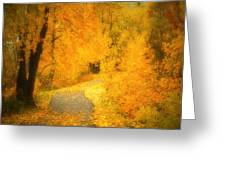 The Pathway Of Fallen Leaves Greeting Card by Tara Turner