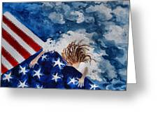 The Patriot Returns Home Greeting Card by Mary Sonya  Conti