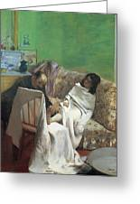 The Pedicure Greeting Card by Edgar Degas