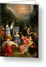 The Pentecost Greeting Card by Louis Galloche