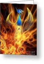 The Phoenix Rises From The Ashes Greeting Card by John Edwards