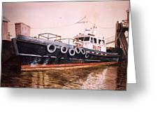 The Pilot Boat Greeting Card by Marguerite Chadwick-Juner