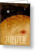 The Planet Jupiter Greeting Card by Michael Tompsett