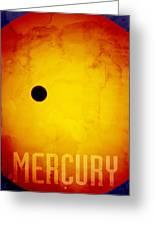 The Planet Mercury Greeting Card by Michael Tompsett
