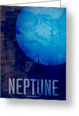 The Planet Neptune Greeting Card by Michael Tompsett