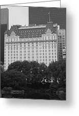 The Plaza Hotel Greeting Card by Christopher Kirby