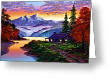 The Pleasures Of Autumn Greeting Card by David Lloyd Glover