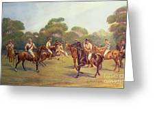 The Polo Match Greeting Card by C M  Gonne