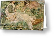 The Pool Greeting Card by Edward Atkinson Hornel