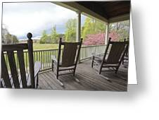 The Porch  Greeting Card by Steve Gravano