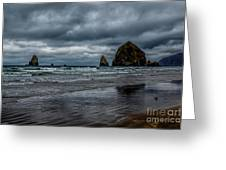 The Power Of The Sea Greeting Card by Jon Burch Photography