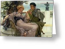 The Proposal Greeting Card by Sir Lawrence Alma Tadema