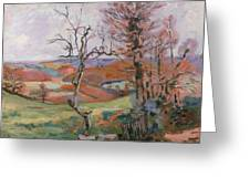 The Puy Barion At Crozant Greeting Card by Jean Baptiste Armand Guillaumin