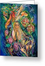 The Queen Of Shabbat Greeting Card by Elena Kotliarker