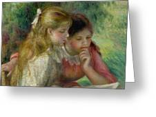 The Reading Greeting Card by Pierre Auguste Renoir