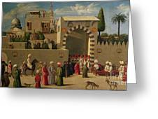 The Reception Of Domenico Trevisani In Cairo Greeting Card by Italian School