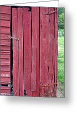The Red Door Greeting Card by Tina B Hamilton