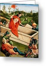 The Resurrection Greeting Card by Johann Koerbecke