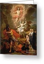 The Resurrection Of Christ Greeting Card by Noel Coypel