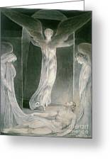 The Resurrection Greeting Card by William Blake