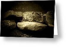 The River Rocks Greeting Card by Michael L Kimble