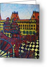 The Road To Peace Greeting Card by Marilene Sawaf