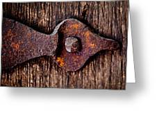 The Rusty Hinge Greeting Card by Lisa Russo
