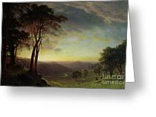 The Sacramento River Valley  Greeting Card by Albert Bierstadt