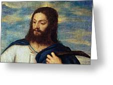 The Savior Greeting Card by Titian