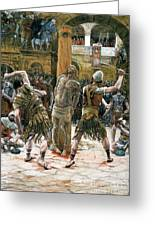 The Scourging Greeting Card by Tissot