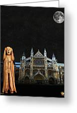 The Scream World Tour Westminster Abbey Greeting Card by Eric Kempson