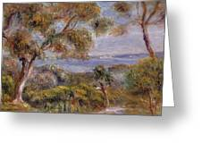 The Sea at Cagnes Greeting Card by Pierre Auguste Renoir
