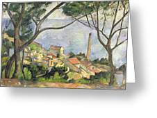 The Sea At L Estaque Greeting Card by Paul Cezanne
